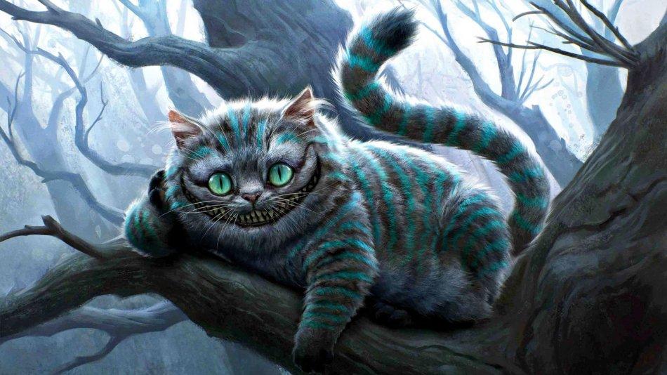 Британский короткошерстный кот в Алисе в Стране чудес