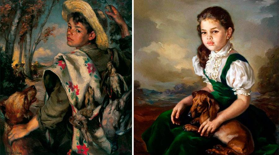 Франсиско Рибера Гомес картины с домашними животными