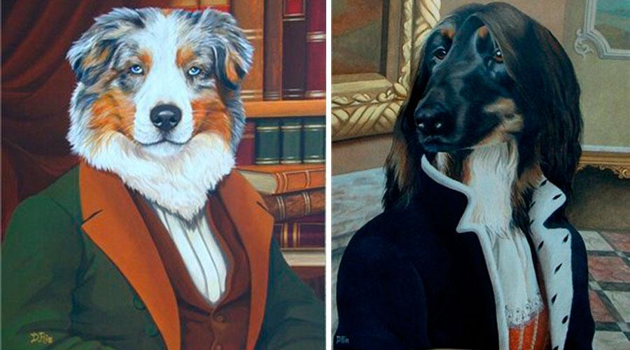 Собаки в картинах