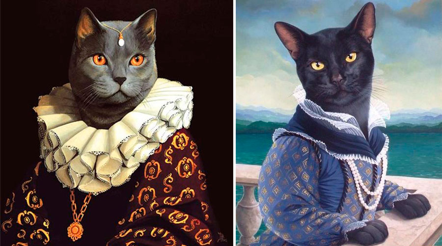 Коты-аристократы в живописи
