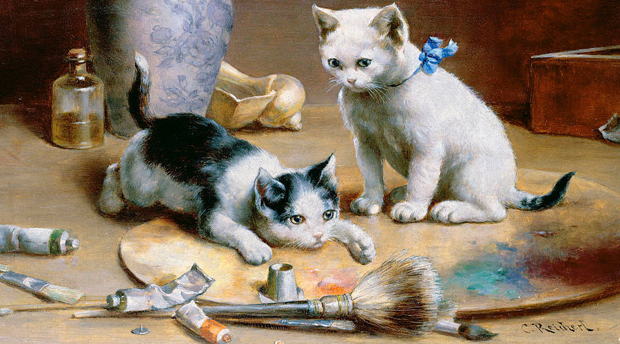 Кошки в картинах Карла Райхерта