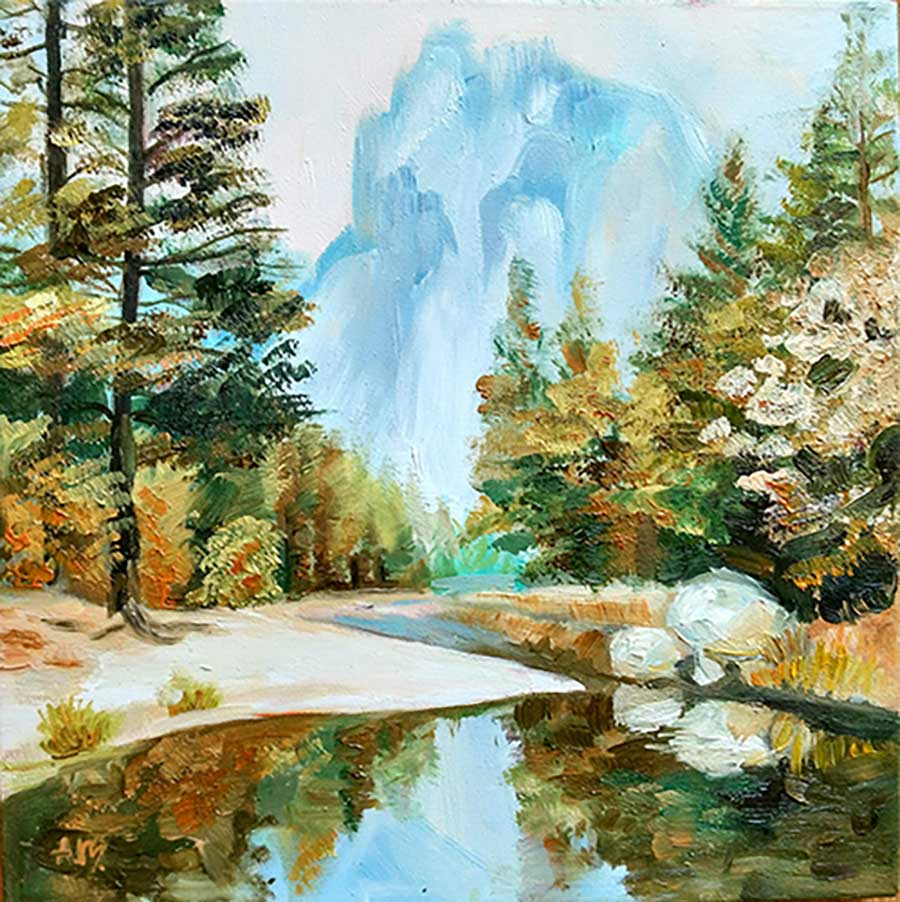 картина с осенним пейзажем