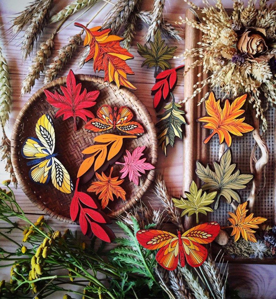 бабочки,осень,растения