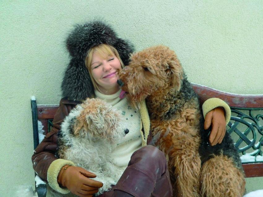 Александра Захарова, эрдельтерьер и фокстерьер