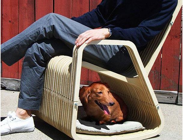 стул с лежанкой для собак