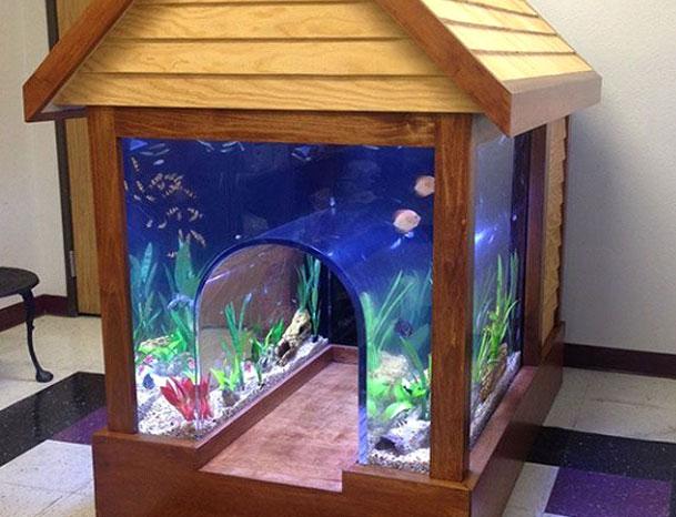 будка с аквариумом