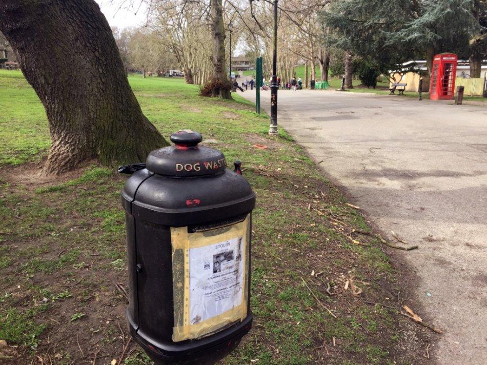 Урна для собачьих отходов в Лондоне