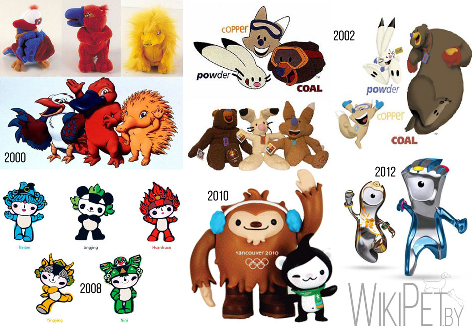символы олимпиад животные,олимпиада,животные,талисман