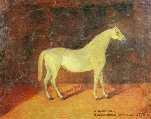 Портрет жеребца Сметанки орловской рысистой породы