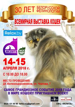 Юбилейная всемирная выставка кошек «30 лет белорусской фелинологии»