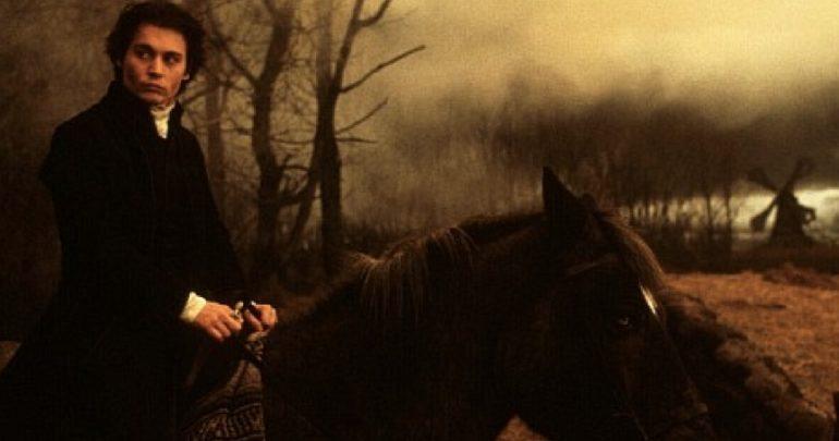 Джонни Депп и лошадь фильм Сонная Лощина фото