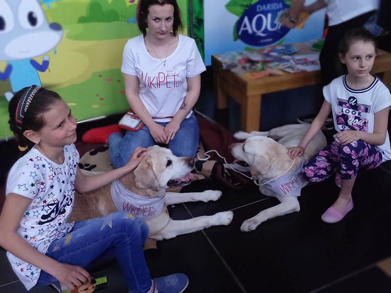 Анималотерапия лабрадоры общаются с детьми фото