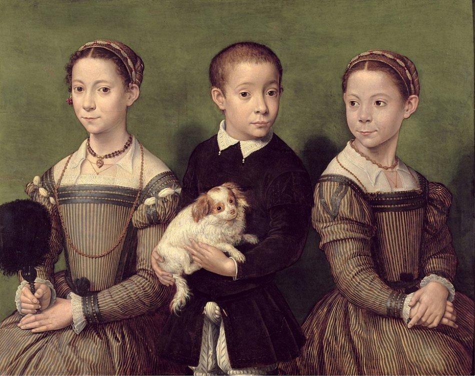 Собака на картине эпохи Возрождения фото