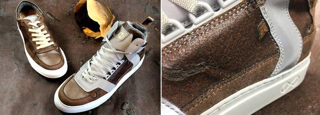 Обувь из кофейной гущи фото