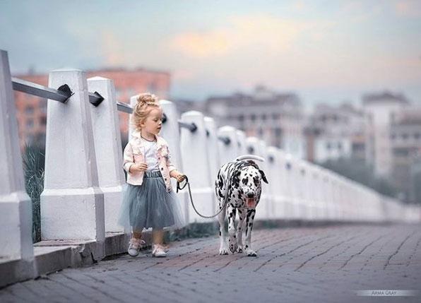 ребенок и далматин фото