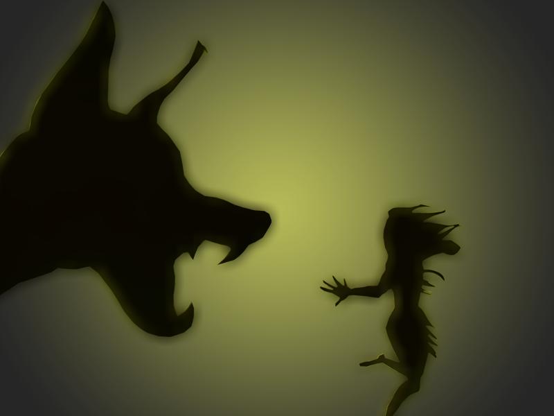 Кинофобия человек в ужасе от собаки силуэты рисунок фото