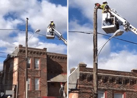 улица, столб, спасатель, телефонный столб, спасение