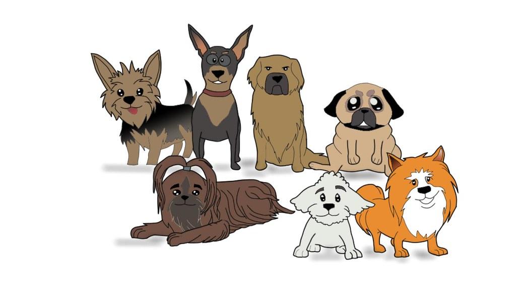 Собаки маленьких пород рисунок